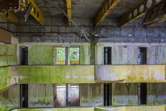 Arruine el hotel abandonado en la isla del sao Miguel Imágenes de archivo libres de regalías