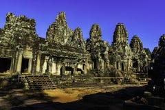 Arruine el templo antiguo de piedra de Bayon en Siem Reap imágenes de archivo libres de regalías