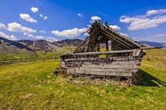 arruine uma casa de madeira Imagem de Stock Royalty Free