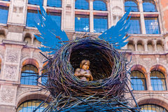 Arry Potter And The Cursed Child. London, England - 9 April 2017 - Harry Potter And The Cursed Child model displays in front of the theater bulding in London Royalty Free Stock Images