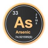 Arsénico como elemento químico representación 3d ilustración del vector