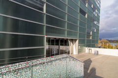 Ars Electronica中心在林茨,奥地利 免版税库存图片