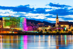 Ars Electronica Center, Linz. LINZ, AUSTRIA - MAY 14, 2017: The Ars Electronica Center or AEC is a center for electronic arts run by Ars Electronica located in Royalty Free Stock Photography