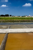 ARS-en-Ré - isola di Rhé: stagni di evaporazione del sale Fotografie Stock Libere da Diritti