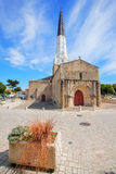 Ars en Re. The church of one of the most beautiful villages in France Royalty Free Stock Image