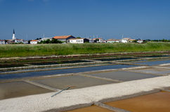 Ars-en-Ré - Isle of Rhé: salt evaporation ponds Stock Image