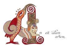 Ars est celare artem latin sentence Stock Image