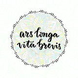 Ars longa vita brevis - latin phrase. Inspirational handwritten quote. Stock Images