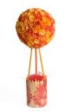 Ars topiaria floreale arancio sopra fondo bianco Immagini Stock