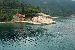 Arsanas. Holy Mount Athos, Greece stock photos