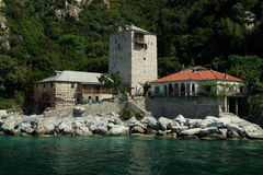 Arsanas. Monastery Simonopetra, Mount Athos, Greece royalty free stock photo