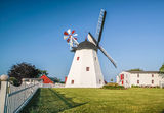 Arsdale Molle, moinho de vento em Bornholm Fotografia de Stock