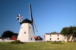 Arsdale Molle, windmill on Bornholm Stock Photo