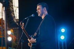 Arsen Mirzoyan,生活音乐会在Pobuzke,乌克兰, 15 07 2017年,侧视图社论照片 库存图片