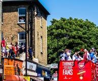 Arsenału FA filiżanki zwycięstwa parada Obrazy Royalty Free