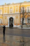 Arsenaal de bouw van Moskou het Kremlin Kleurenfoto Royalty-vrije Stock Afbeelding