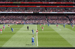 Arsenaal V Chelsea 0-0 trekt voetbal/voetbalgelijke p Royalty-vrije Stock Afbeeldingen