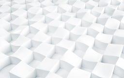 Arsenal abstracto de polígonos del blanco del hockey shinny 3d rinden Imagenes de archivo