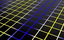 Arsenal abstracto de polígonos del negro y del color del hockey shinny 3d rinden Imágenes de archivo libres de regalías