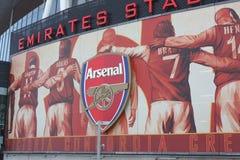 Arsenal-Anzeigen Stockfotos