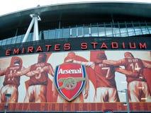 Arsenal-Anzeigen, Stadion der Leuchte Lizenzfreie Stockfotografie