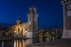 Arsenal av Venedig arkivbilder