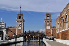 Arsenal av Venedig italy Royaltyfria Foton
