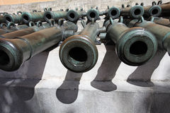 The Arsenal canons. Moscow Kremlin Stock Image