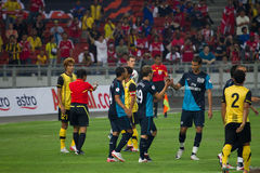 Arsenal celebrates a goal Stock Image