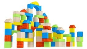Arsenal colorido de diversos bloques huecos Foto de archivo
