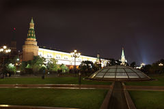 Arsenal an d Arsenal Tower of Moscow Kremlin from Royalty Free Stock Images