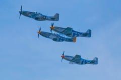 Arsenal da democracia--Aviões de combate do mustang P-51 Fotografia de Stock Royalty Free