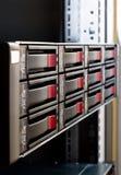 Arsenal de disco Rack-mounted fotos de archivo