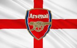 Arsenal del club del fútbol de bandera, Inglaterra stock de ilustración