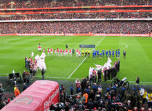 Arsenal Emirates Stadium, Football Match Stock Images