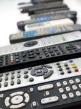 Arsenal enorme de mandos a distancia Imágenes de archivo libres de regalías
