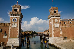 Arsenal entrance, Venice. The entrance of the arsenal, the shipyard of Venice, Italy stock image