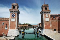 Arsenal entrance, Venice, Italy Stock Photography