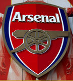 Arsenal FC. Arsenal Football Club Cannon Shield, Emirates Stadium, London royalty free stock images