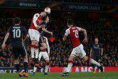 Arsenal FC v CSKA Moskva - trayecto final cuarto uno de la liga del Europa de la UEFA Fotografía de archivo