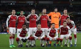 Arsenal FC v CSKA Moskva - trayecto final cuarto uno de la liga del Europa de la UEFA imagenes de archivo