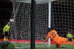 Arsenal FC v CSKA Moskva - trayecto final cuarto uno de la liga del Europa de la UEFA Imágenes de archivo libres de regalías