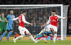 Arsenal FC v FC Barcelona - UEFA Champions League Round of 16: First Leg Royalty Free Stock Image