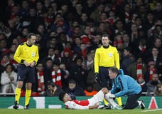 Arsenal FC v FC Barcelona - UEFA Champions League Round of 16: First Leg Stock Photography