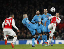 Arsenal FC v FC Barcelona - UEFA Champions League Round of 16: First Leg Royalty Free Stock Images