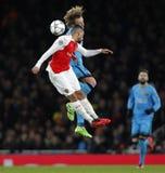 Arsenal FC v FC Barcelona - UEFA Champions League Round of 16: First Leg Stock Photo