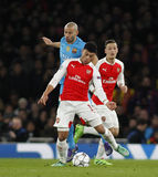 Arsenal FC v FC Barcelona - UEFA Champions League Round of 16: First Leg Royalty Free Stock Photo