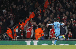 Arsenal FC v FC Barcelona - UEFA Champions League Round of 16: First Leg Stock Photo