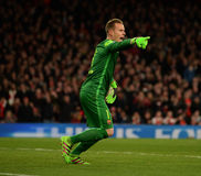 Arsenal FC v FC Barcelona - UEFA Champions League Round of 16: First Leg Royalty Free Stock Photos