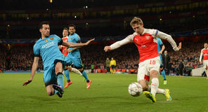 Arsenal FC v FC Barcelona - UEFA Champions League Round of 16: First Leg Royalty Free Stock Photography